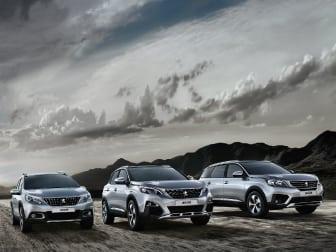Gama SUV Peugeot desde 159€/mês* na Caetano Motors