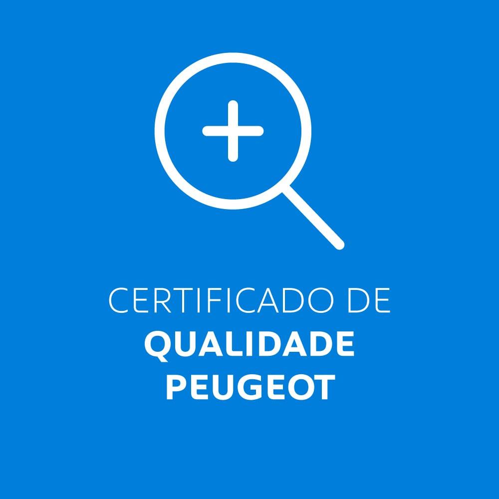 certificado de qualidade Peugeot