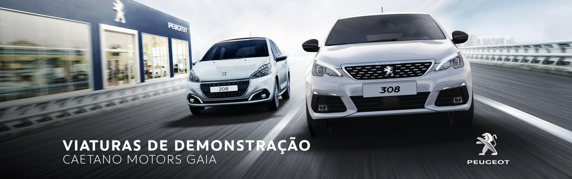 Viaturas de demonstração da Peugeot