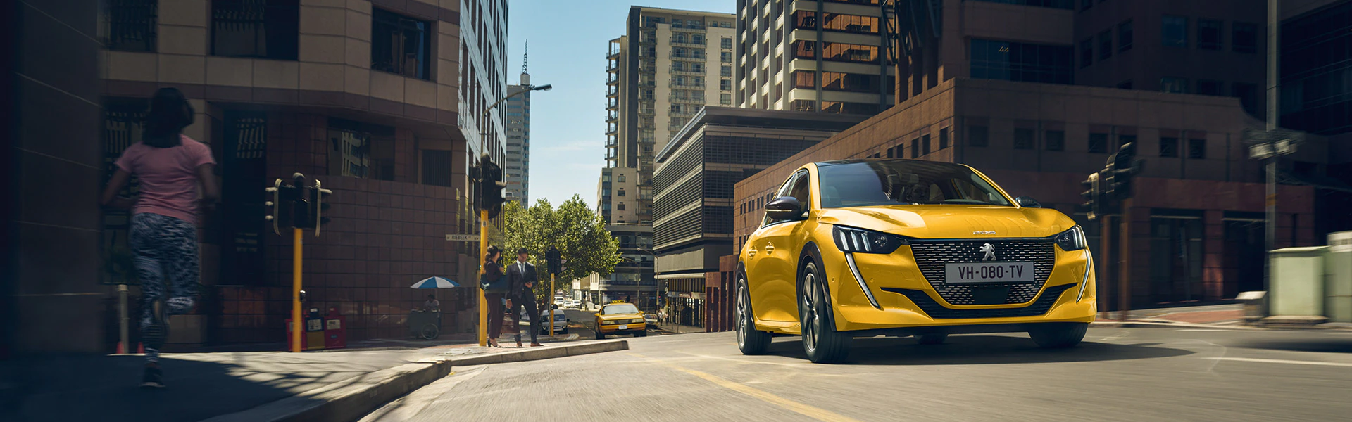 Peugeot 208 em amarelo