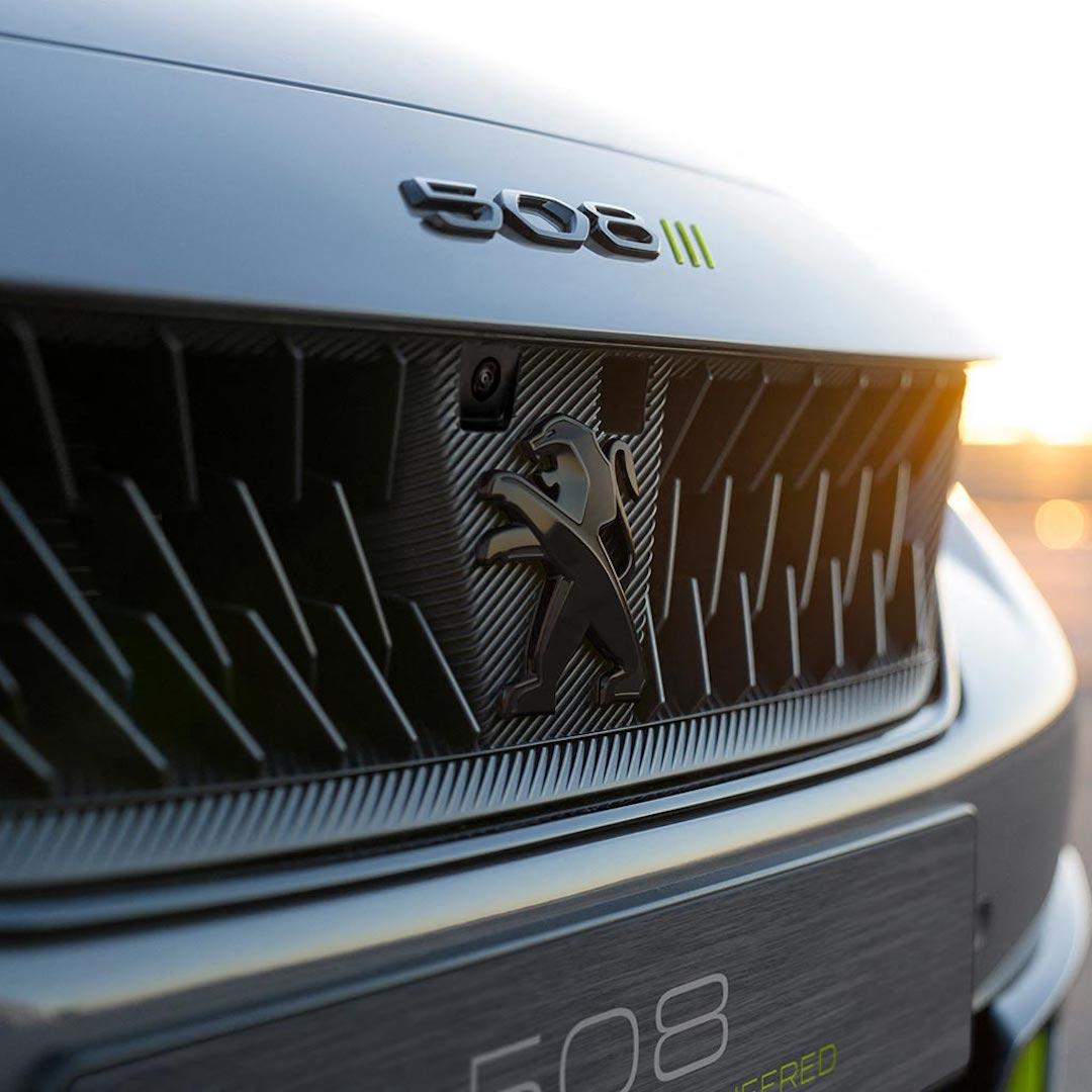 grelha do Peugeot 508 PSE