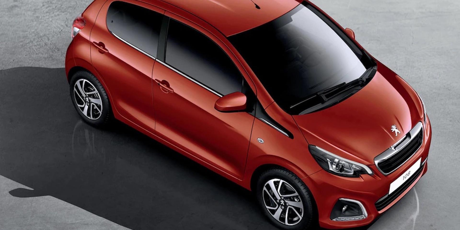 Peugeot 108 em vermelho
