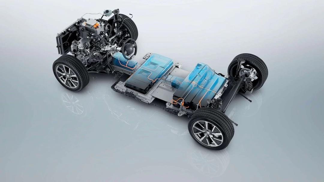 chassis do Peugeot 208 elétrico